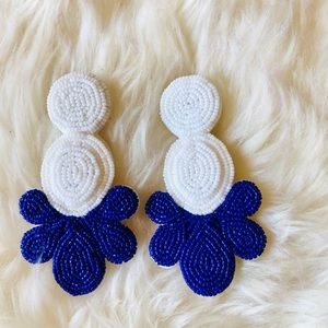 J. Crew beaded statement earrings